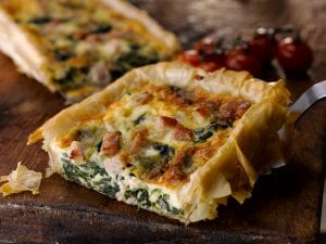 Bacon, Spinach & Blue Cheese Tart; bord bia recipe
