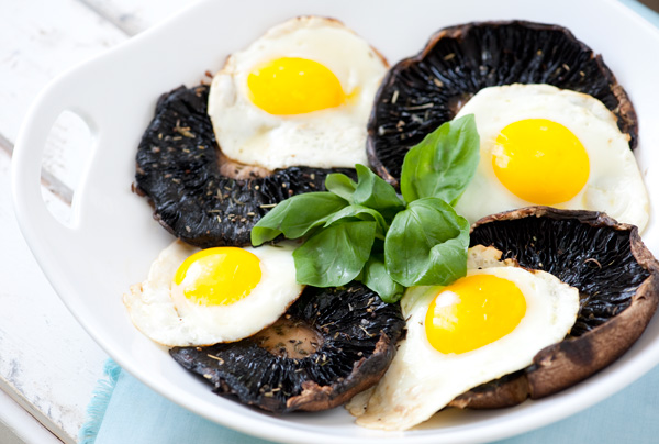 Roasted Portobello with Eggs