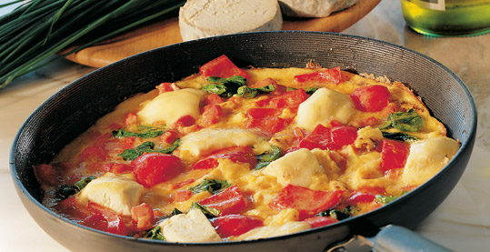 Italian Frittata with Spinach & Goat's Cheese