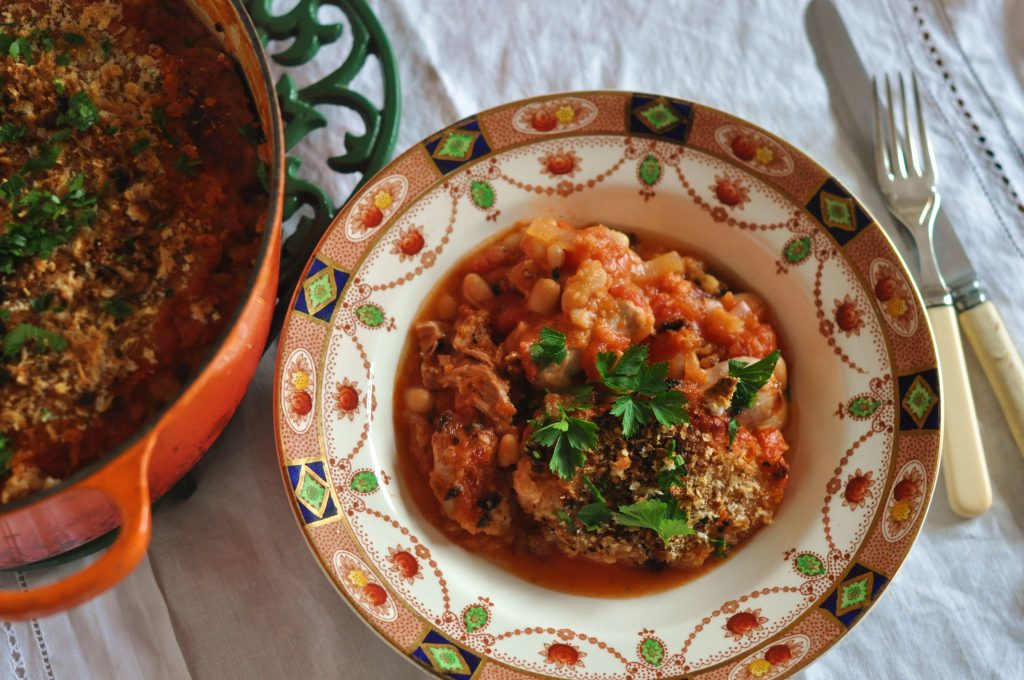 Easy Duck and Sausage Cassoulet; Lilly Higgins recipe; cassoulet