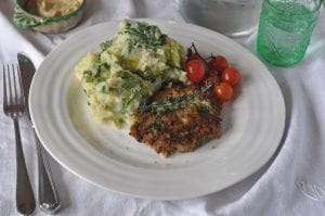 Herb Crusted Pork chops with Colcannon; pork chop recipe; Lilly Higgins