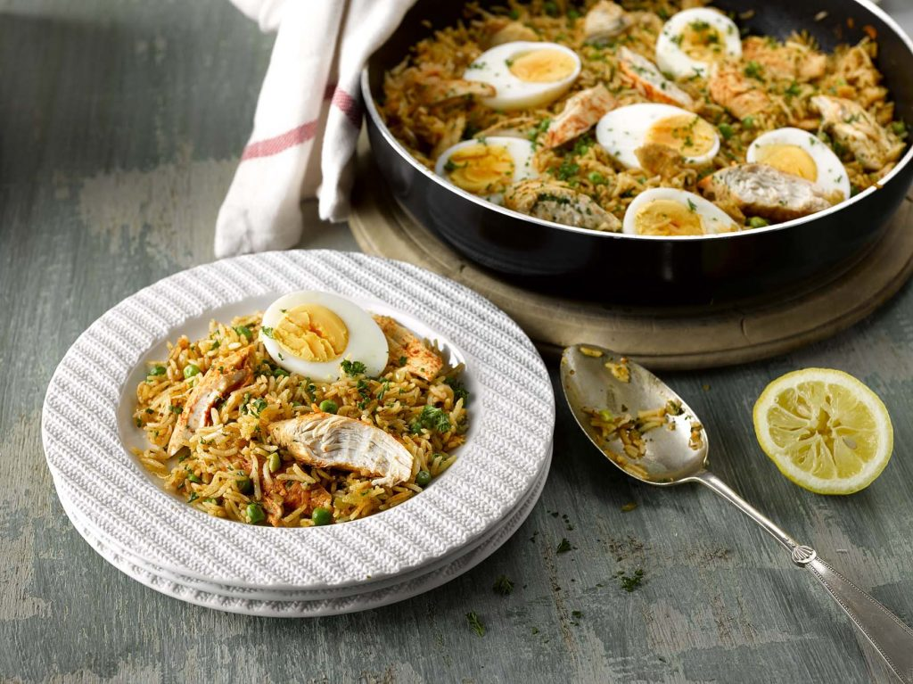 Smoky Chicken with Rice & Eggs