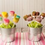 Chocolate dipped marshmallows for kids birthday parties