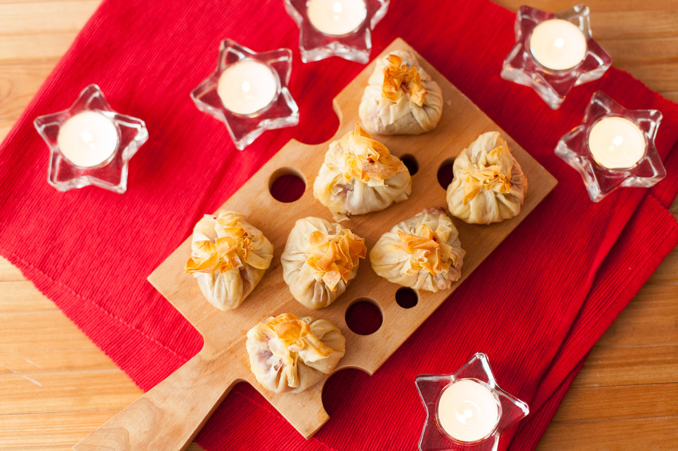 camembert_cranberry_parcels_christmas canapes