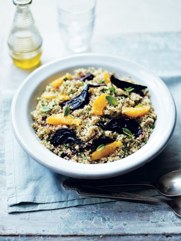 Quinoa with Mint Orange & Beetroot