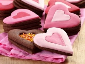 Secret-inside Heart cookies