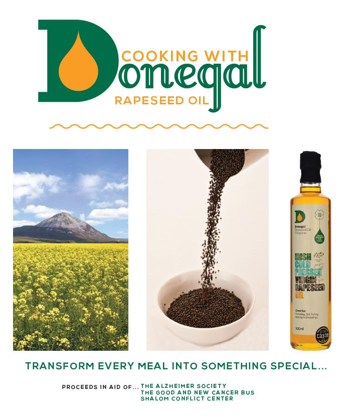 Donegal Rapeseed Oil Charity Cookbook, i Love Cooking ireland