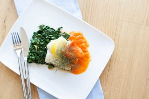 Catherine Fulvio Roasted Cod with Red Pepper and Fennel Sauce, Chef Recipe Series