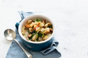 Niall Sabongi Seafood Chowder, Fish recipes, quick and easy chowder, I Love Cooking Ireland