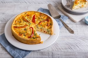 Deep Dish Chicken & Summer Veg Quiche, quiche recipe, chicken recipe, I Love cooking ireland