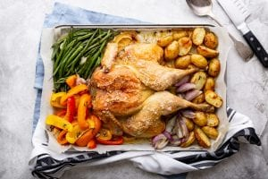 Chicken Roast with Summer Veg, I Love Cooking Ireland, Chicken recipes, easy chicken dinners