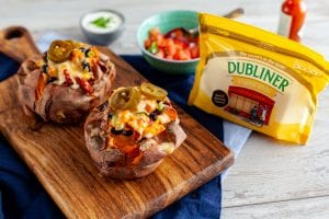 Dubliner Cheese Loaded Baked Sweet Potato