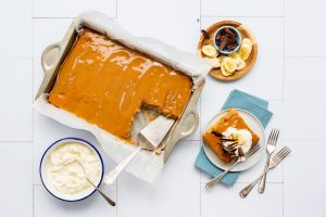 Banoffee Traybake, traybake recipes, banana recipes, i love cooking traybakes
